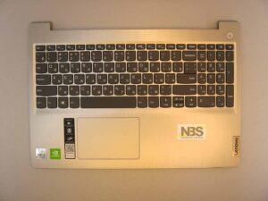 Клавиатура для ноутбука lenovo Ideapad L3-15IML05 + C корпус RU\EN серебро