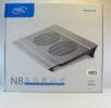 Подставка для ноутбука DeepCool N8 алюминиевое основание, размер до  17″, 2 вентилятора, 4 USB hub