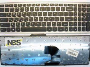 Клавиатура для ноутбука Lenovo Z500 RU/EN рамка серая pn 25013004. mp-24l41us