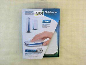 Мышь беспроводная мультисенсорная Defender T-Sense 1000 Nano White