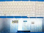 Клавиатура для ноутбука Toshiba Satellite C650/C670/C660 RU белая