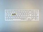 Клавиатура для ноутбука Sony VPC-EL Series EN White с рамкой