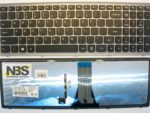 Клавиатура для ноутбука Lenovo G500S with backlight рамка серебро