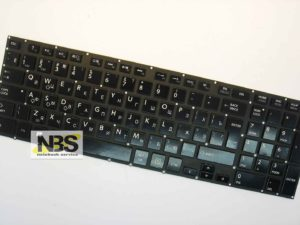 "Клавиатура для ноутбука Toshiba Satellite P50 с подсветкой Enter ""7"" RU"