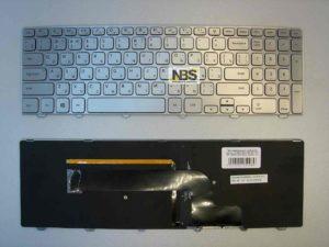 Клавиатура для ноутбука Dell Inspirion 15-7000 RU/EN 7535 7537 7737 MP-13B23SUJ442 рамка серебро+Led