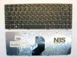 Клавиатура для ноутбука Lenovo Z460 RU рамка серая p/n: 25-01875