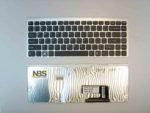 Клавиатура для ноутбука Sony VGN-FW EN рамка серебро