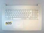 Клавиатура для ноутбука Asus N750+С корпус серебро подсветка RU/EN
