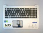 Клавиатура для ноутбука Asus K501+С корпус серебро RU/EN