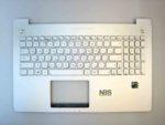 Клавиатура для ноутбука Asus N550+С корпус серебро RU/EN c подсветкой
