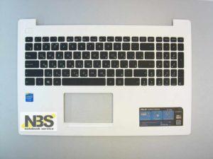 Клавиатура для ноутбука Asus X553M+C корпус белая RU/EN
