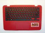 Клавиатура для ноутбука Dell Inspiron 11 RU 3162 + C корпус с Tuch красная