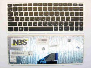 Клавиатура для ноутбука Lenovo U310 RU рамка серебро