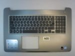 Клавиатура для ноутбука Dell Inspiron 17 5000sereis + C корпус серый