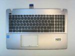 Клавиатура для ноутбука Asus X552 F552+C корпус серый RU/EN