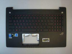 Клавиатура для ноутбука Asus N550+С корпус черный RU/EN c подсветкой