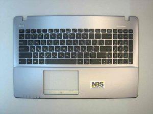 Клавиатура для ноутбука Asus X551 D550+C корпус серый RU/EN