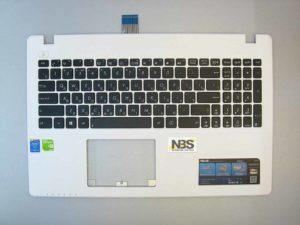 Клавиатура для ноутбука Asus X552 F552+C корпус белый RU/EN