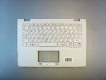 Клавиатура для ноутбука Lenovo Yoga 300 300-11IBR + C cover без тачпада белая