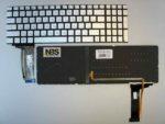 Клавиатура для ноутбука Asus Asus  N552 / N552VX  / N552V  RU серебро с подсветкой