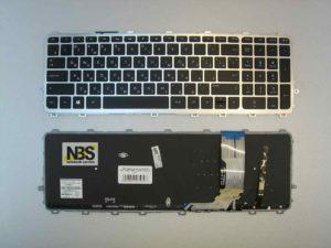 Клавиатура для ноутбука HP ENVY 15-j053 15-j051 + рамка серебро+ подсветка RU