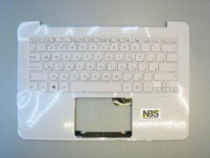 Клавиатура для ноутбука Asus UX305FA UX305U + C panel RU белая Enter горизонтальный