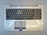 Клавиатура для ноутбука Asus A555L V555L  +С корпус серебро RU/EN