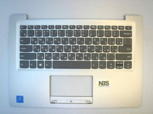 Клавиатура для ноутбука Lenovo IDEAPAD 120s-14iap + C cover RU серебро
