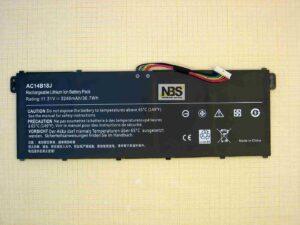 Аккумулятор Acer AC14B13J AC14B18J Aspire ES1-111 ES1-131 ES1-331 ES1-520 Дубликат 11.4V 3090mAh