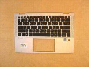 Клавиатура для ноутбука Б/У HP EliteBook x360 1030 G4 RU + C панель серебро