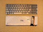 Клавиатура для ноутбука Asus N550 серебро RU/EN c подсветкой